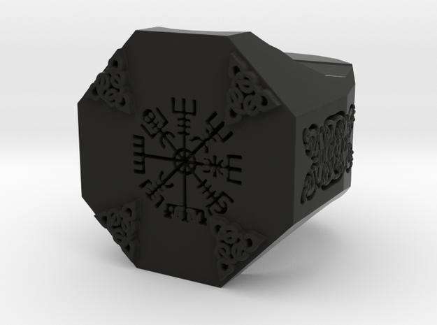Stone Mason Ring in Black Natural Versatile Plastic
