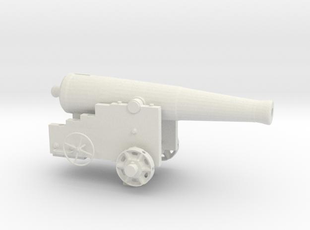 Fort Sumter 32lb Cannon in White Natural Versatile Plastic