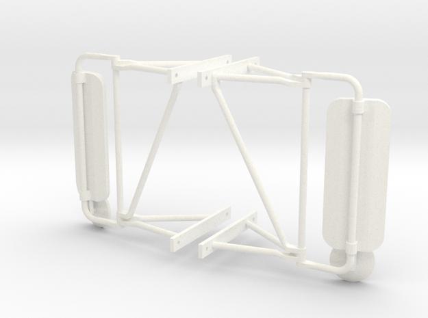 Truck Mirrors, Pair 1/14 Scale in White Processed Versatile Plastic