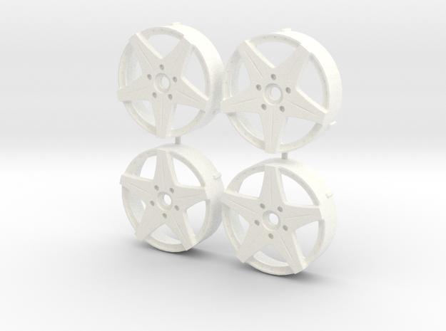 MST / Work Euroline Type SL Insert (x4) in White Processed Versatile Plastic