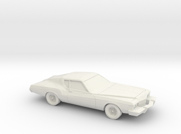1/76 1973 Buick Riviera in White Natural Versatile Plastic