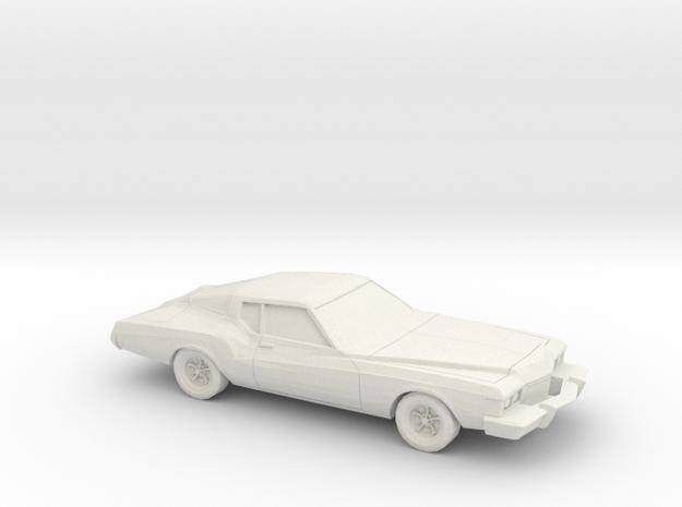 1/76 1973 Buick Riviera in White Natural Versatile Plastic