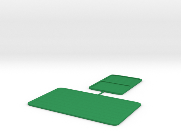 Rice field - long and short sprue in Green Processed Versatile Plastic