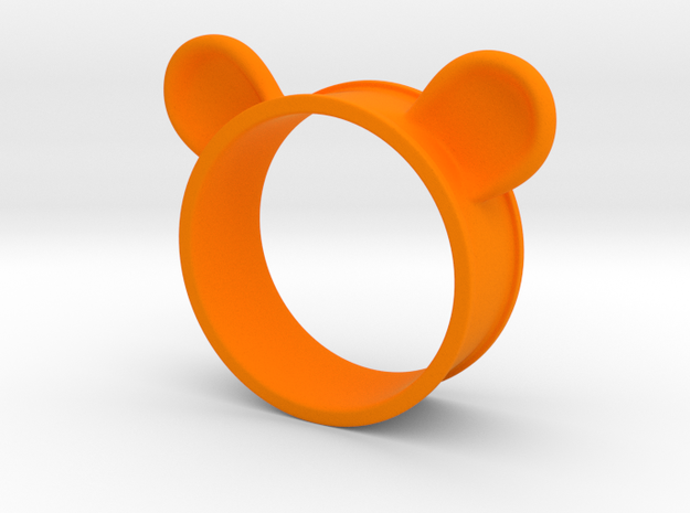 Bear Ears Napkin Holder in Orange Processed Versatile Plastic