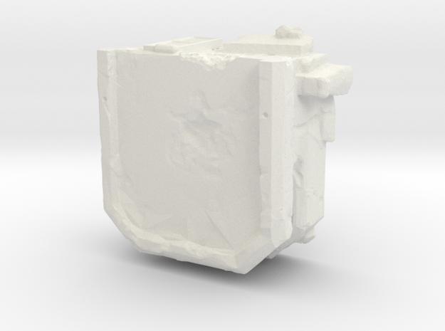 Abandoned Bunker in White Natural Versatile Plastic