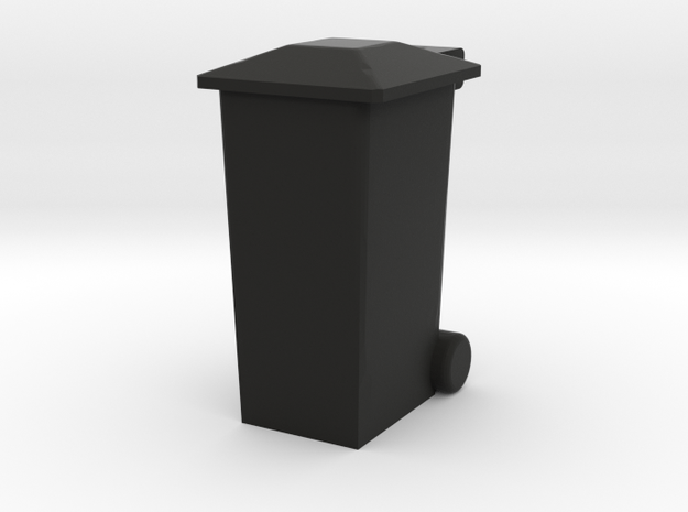 OO Gauge 240 Ltr Wheelie Bin in Black Natural Versatile Plastic