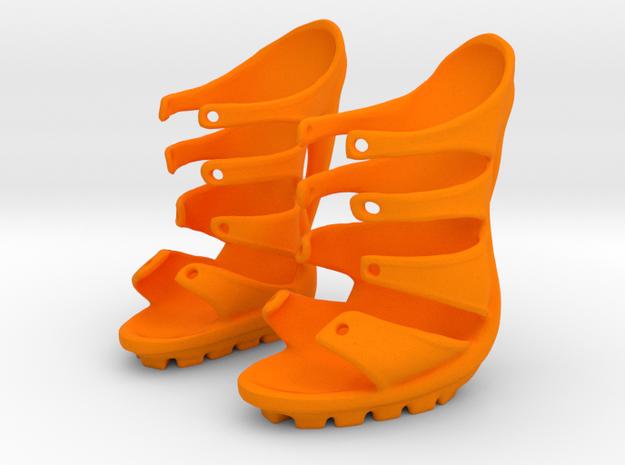 Dare Shoes in Orange Processed Versatile Plastic: Small