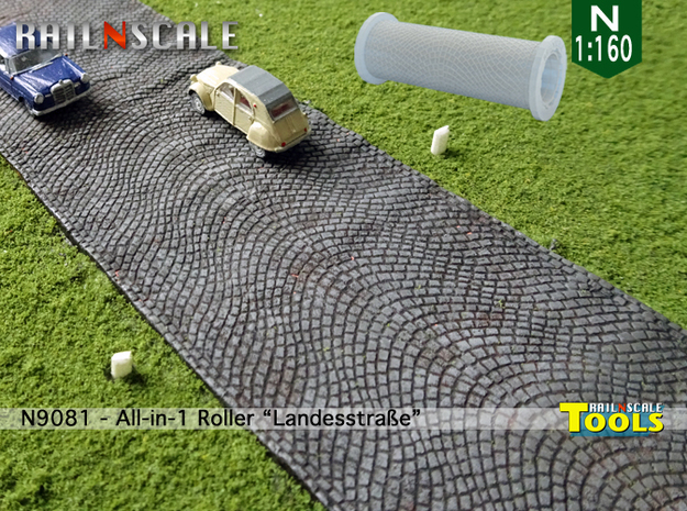 All-in-1 Roller Landesstraße (N 1:160 - TT 1:120) in Smooth Fine Detail Plastic