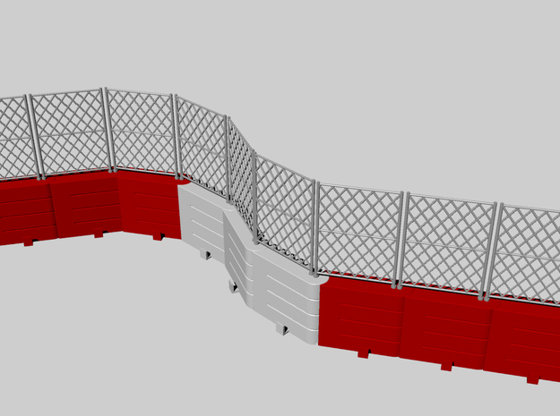 "Safety Barrier ""LCpro"" in Red Processed Versatile Plastic"