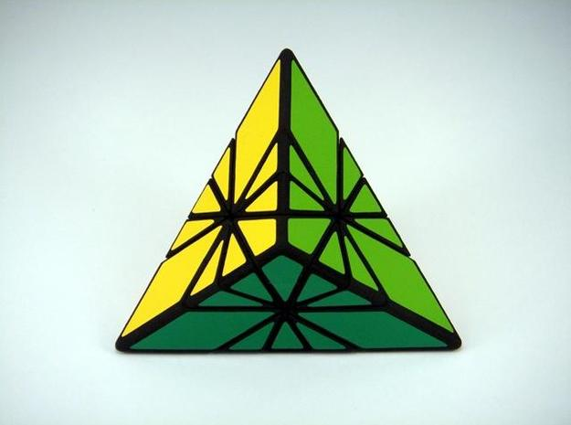 Sunrise Sunset Puzzle 3d printed Green Side