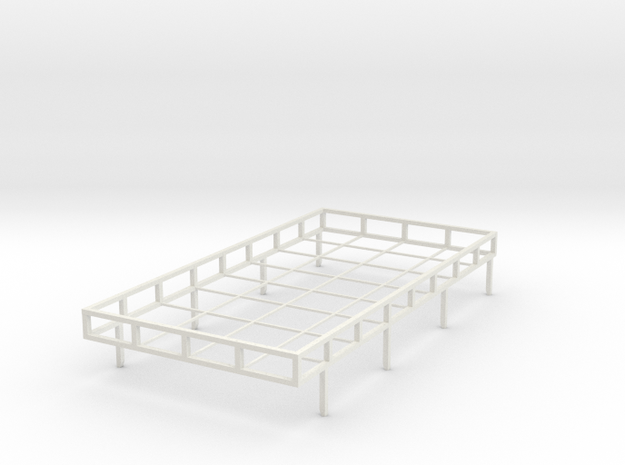 Off-road roof rack 1:10th scale in White Natural Versatile Plastic