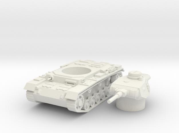 panzer III J scale 1/87 in White Natural Versatile Plastic