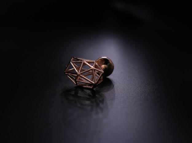 Cufflinks Geometric in 14k Rose Gold Plated Brass