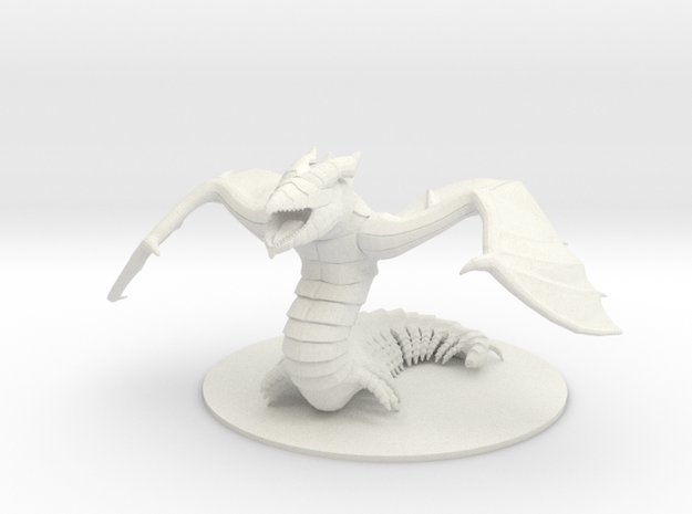 Cave Dragon from Tome of Beasts in White Natural Versatile Plastic