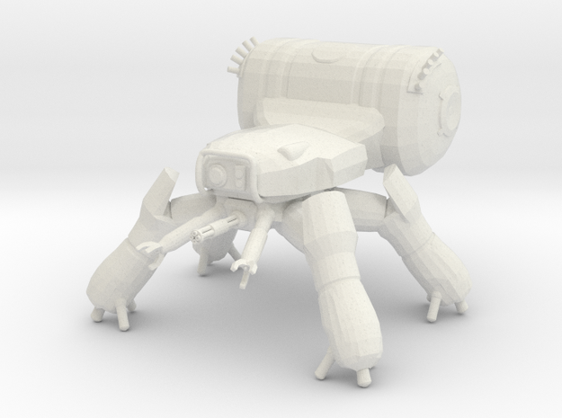 T-343A Spider Tank in White Natural Versatile Plastic: 6mm