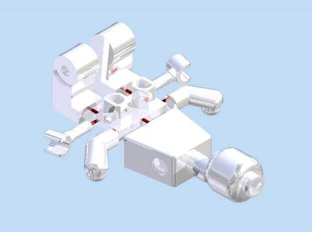 Sprued Minifigure 3d printed Render