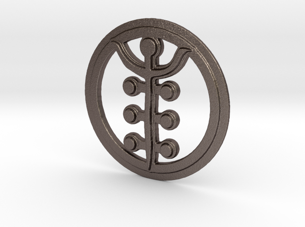 Impurity Rune in Polished Bronzed Silver Steel