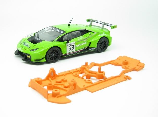 PSCA00403 Chassis Set for Carrera Lamborghini Hura in Orange Processed Versatile Plastic