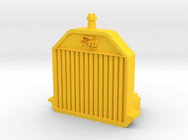 Model T Radiator (1912-16) in Yellow Processed Versatile Plastic
