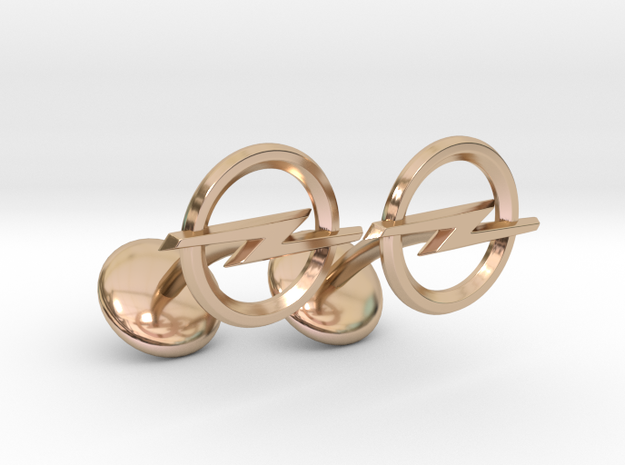 Opel Cufflinks in 14k Rose Gold Plated Brass