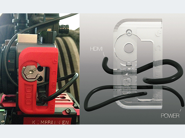 BMPCC Contineo Cage cable clamp 3d printed Route your cables like this