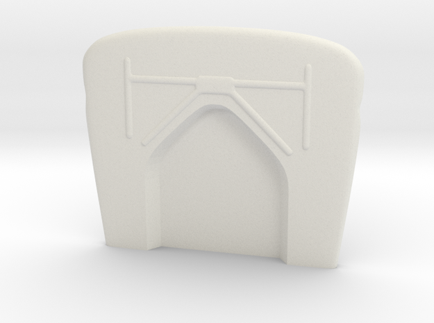 1/16  '30 Ford Firewall in White Natural Versatile Plastic