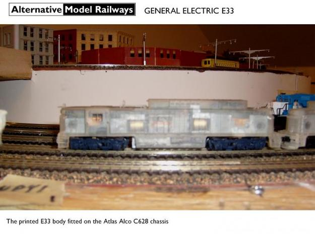 NE3301 N scale E33 loco - New Haven 3d printed
