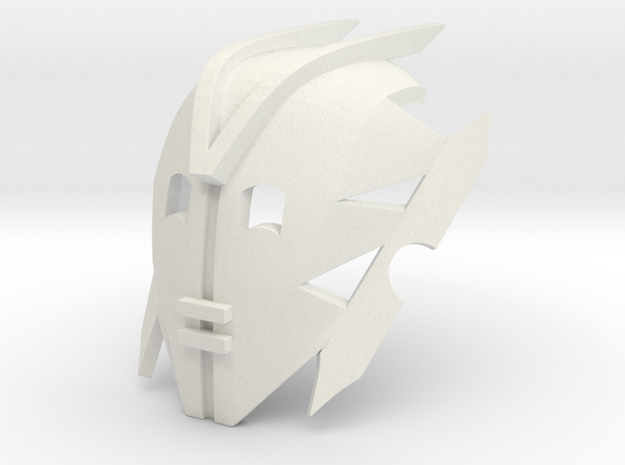 Kanohi Mask of Avidity in White Premium Versatile Plastic