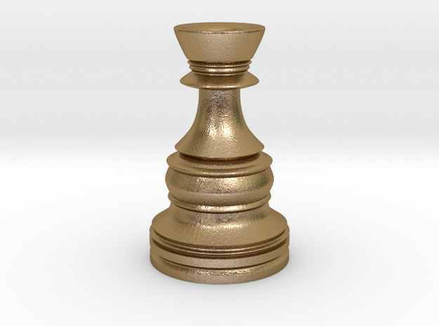 Wazir-Rider (Rook) - [1,0] Classic in Polished Gold Steel
