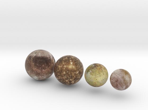 Galilean Satellites 1:150 million in Natural Full Color Sandstone