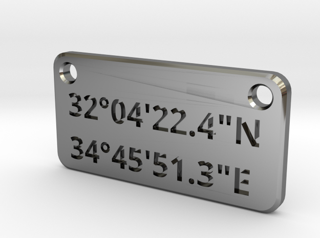 LZ Plate in Fine Detail Polished Silver