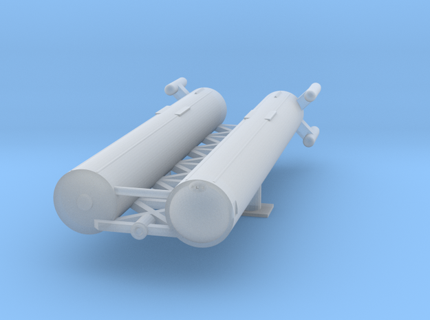 Large Cargo Transport in Smooth Fine Detail Plastic