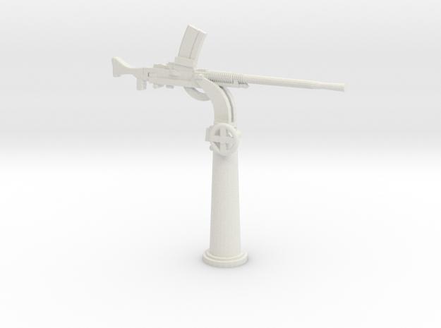 1/48 IJN Type 93 13mm Single Mount AA Gun in White Natural Versatile Plastic