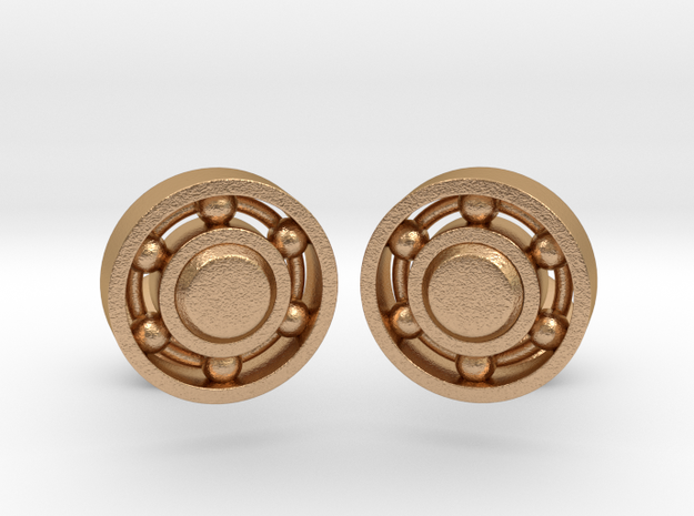 Ball Bearing Cufflinks in Natural Bronze