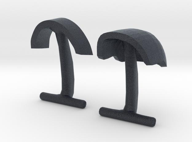 Daft Punk Cufflink Visors and Studs in Black Professional Plastic