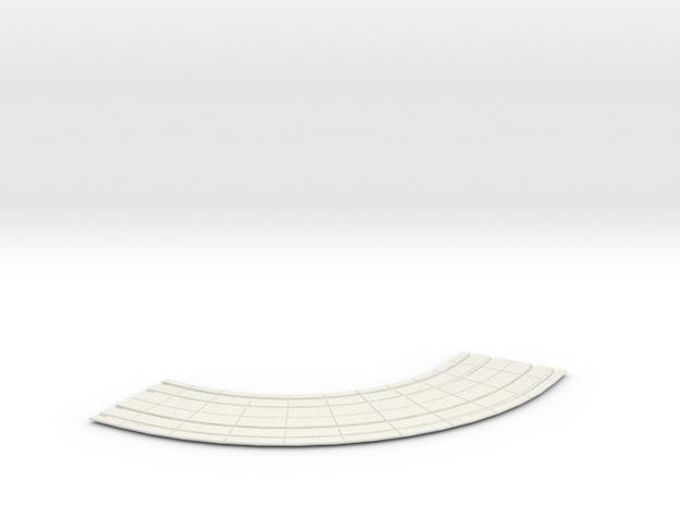 """Double Trolley Track Concrete 6"""" Rad EPTC std in White Natural Versatile Plastic"""
