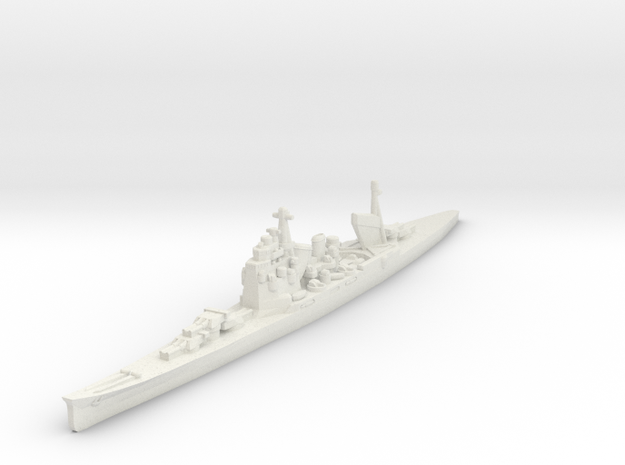 Takao class cruiser 1/1800 in White Natural Versatile Plastic