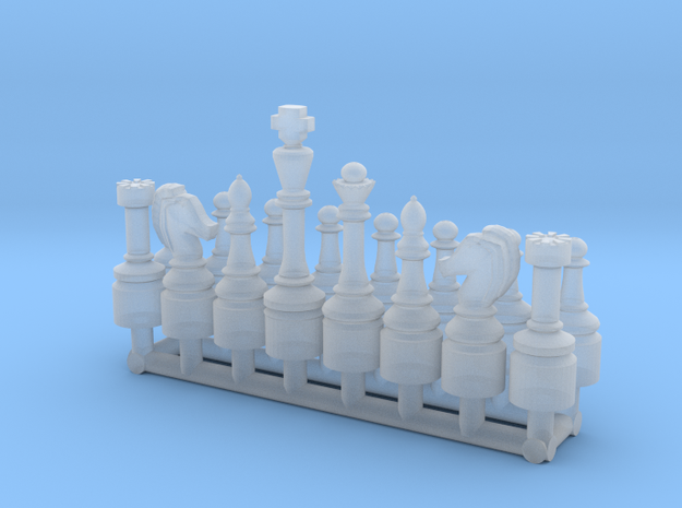 1/18 Scale Chess Pieces Sprue (One Side) in Smooth Fine Detail Plastic