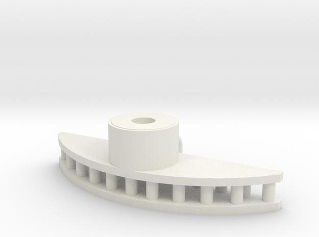 Radarkopf Hälsingland in White Natural Versatile Plastic