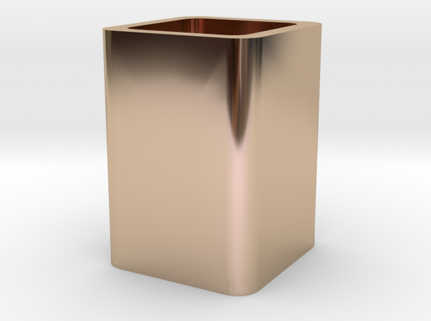 pen container in 14k Rose Gold