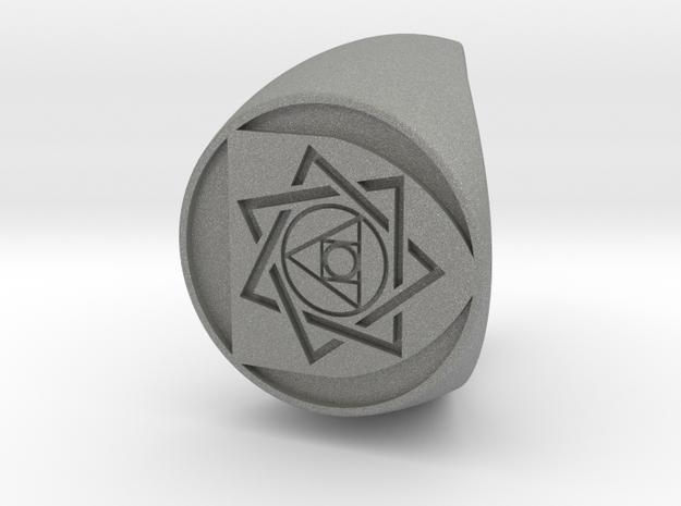 Custom Signet Ring 27 size 8.5 in Gray PA12