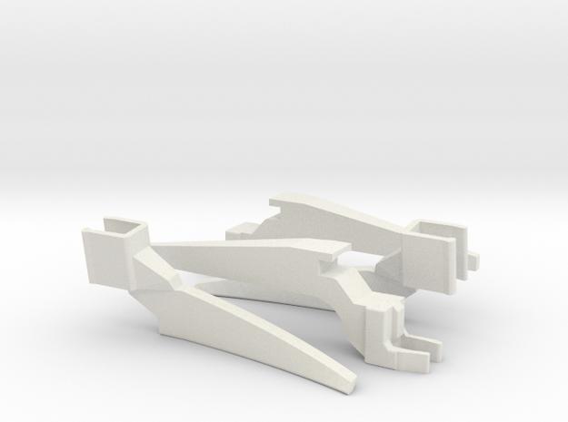 75mm Legs Extenders for DJI Mavic Air in White Natural Versatile Plastic