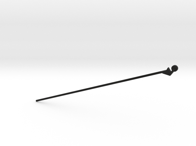 OO Scale Trolley Pole for Lancaster Palace in Black Natural Versatile Plastic: 1:76 - OO