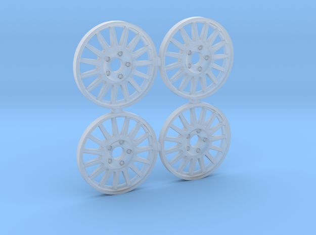 4 tapacubos wrc 18.1mm in Smooth Fine Detail Plastic