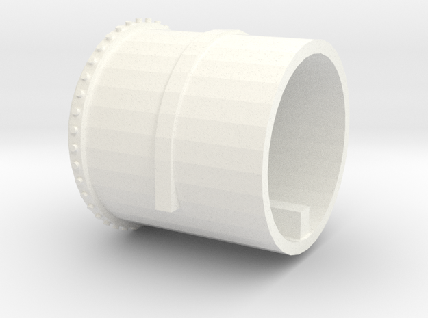 Part 3- Gas Tank (Left hand) end without gauge in White Processed Versatile Plastic