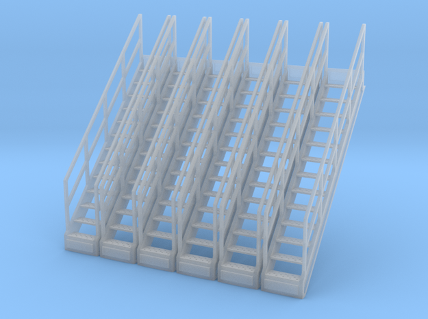 1/64 Stairs for 15' Tower 6pc in Smooth Fine Detail Plastic