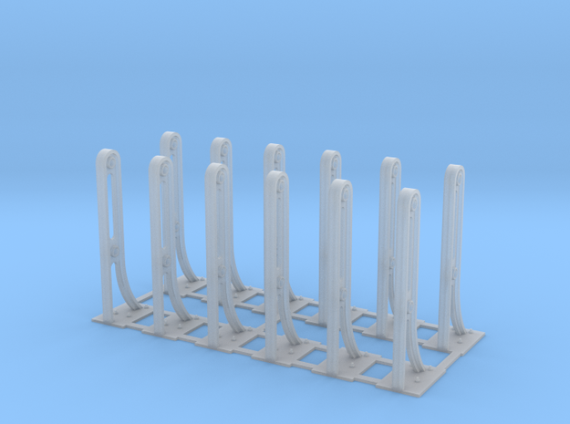 O scale RDG bridge stanchions (12-pack) in Smoothest Fine Detail Plastic