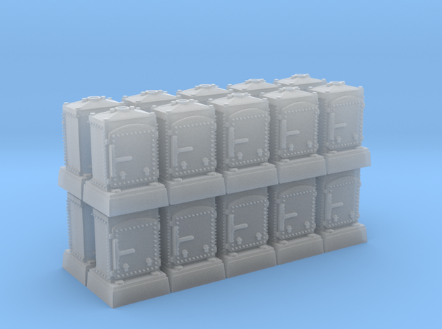 US&S Relay Box (N - 1:160) 20X in Smoothest Fine Detail Plastic