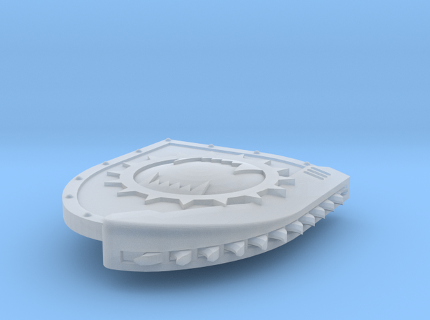 Right-handed Chainshield (Angry Maw design) in Smooth Fine Detail Plastic: Small