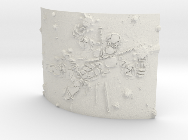 deadpool Curved Lithophane in White Natural Versatile Plastic